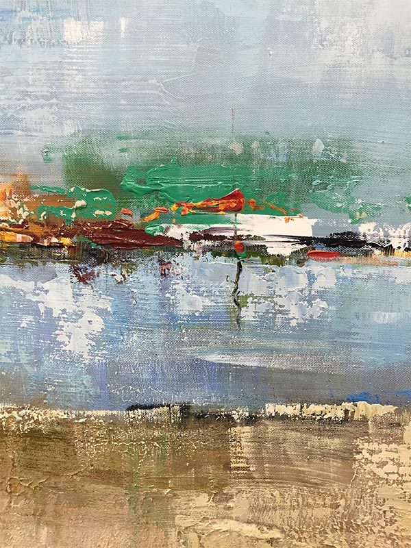 Sandy Beach by K. Shava, Detail