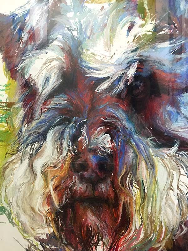 Schnauzer by Marilyn Borglum, Detail