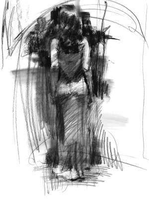 Seduction - Limited Edition Charcoal Study