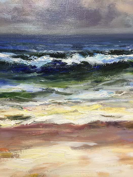Shoreline Splendor by D.S. Kim, Detail