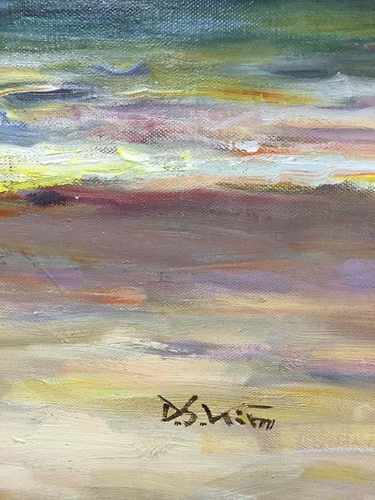 Shoreline Splendor by D.S. Kim, Signature
