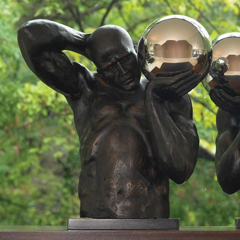 Shot Put Sculpture (Left) - 8.81589