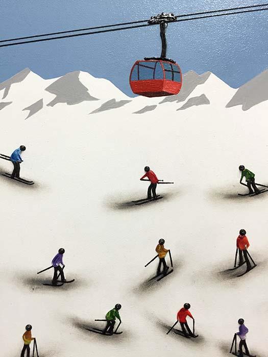 Ski Lift by Nuria Miro, Detail