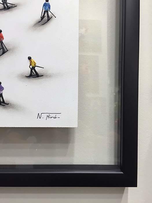 Ski Lift by Nuria Miro, Signature