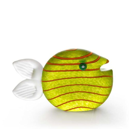Snippy Small Paperweight: 24-03-32 in Lime Green