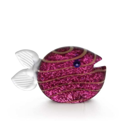 Snippy Small Paperweight: 24-03-34 in Purple