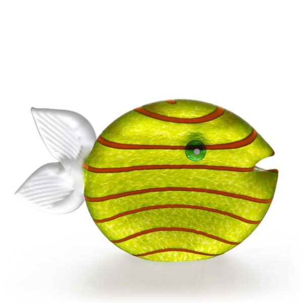 Snippy Tall Paperweight: 24-03-38 in Lime Green