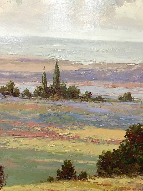 Sonoma View by Kensett, Detail