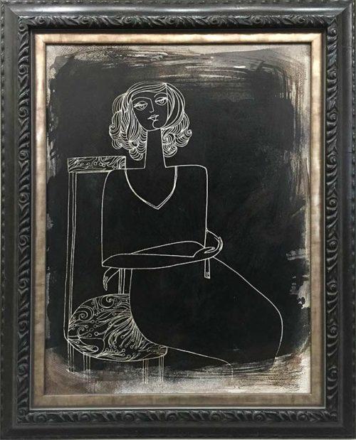 Soul I by Jinous Kani, Framed