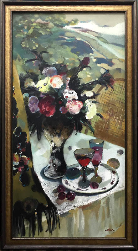 Spring Bouquet with Wine by Lillian, Overview