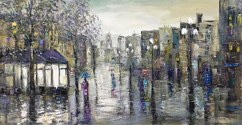 Morning in Town by Konstantin Savchenko