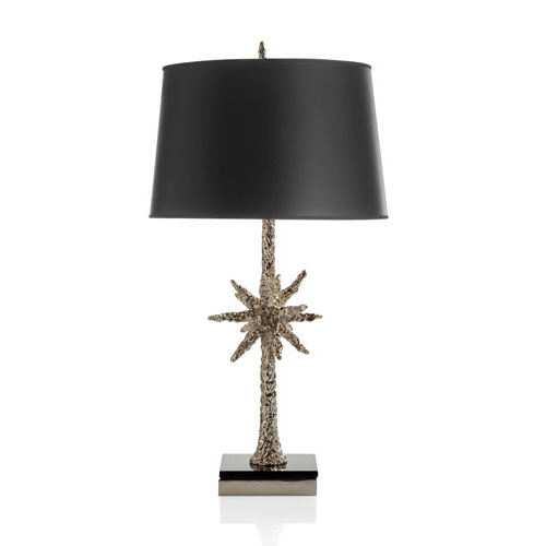 Nickelplate Starburst Table Lamp
