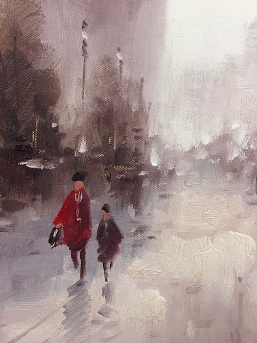 Streets of Paris I by Heigni, Detail