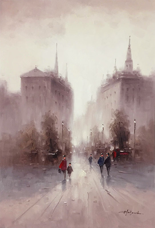 Streets of Paris II by Heigni, Detail