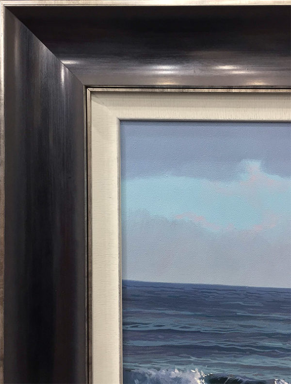 Glowing Clouds Over Waves by Antonio Soler, Frame Corner
