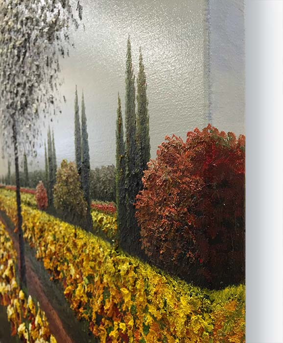 Sunflower Lane by Jung Mario, Gallery Wrapped