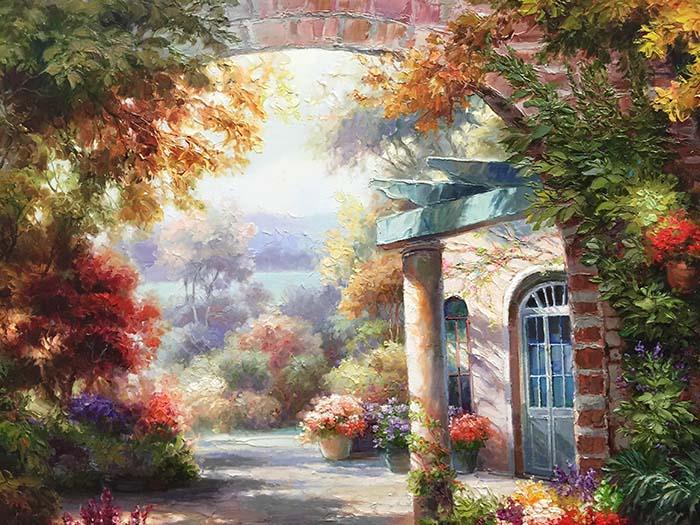 Sunlit Garden by Dae Chun Kim