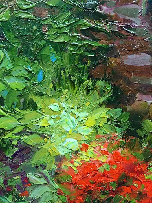 Sunlit Garden by Dae Chun Kim, Texture