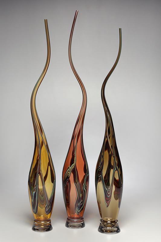 Swan Vessels in Strega, Tangerine, Whiskey