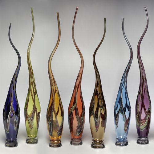 Swan Vessels in Various Colors