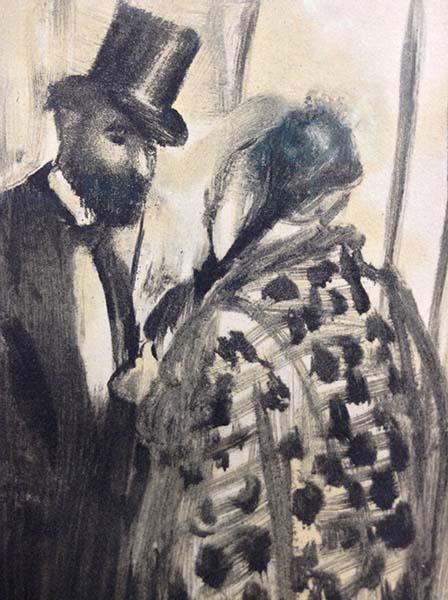Edgar Degas - Conversation (Ludovic Halevy & Madame Cardinal), Detail