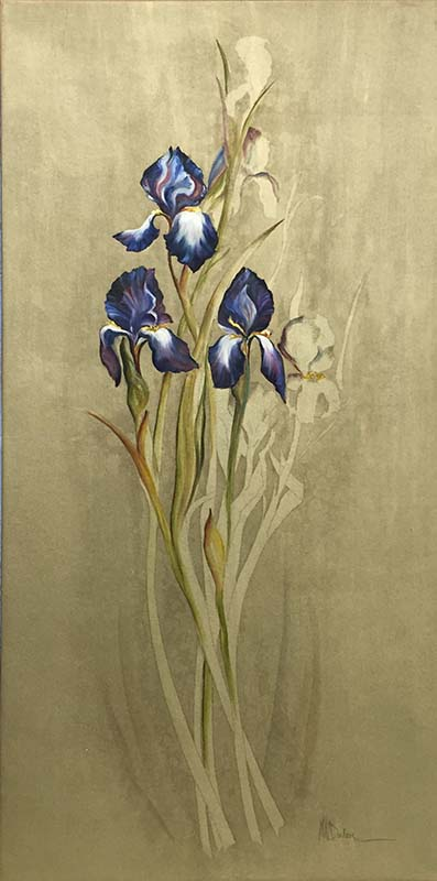 Three Irises by Mary Dulon, Overview