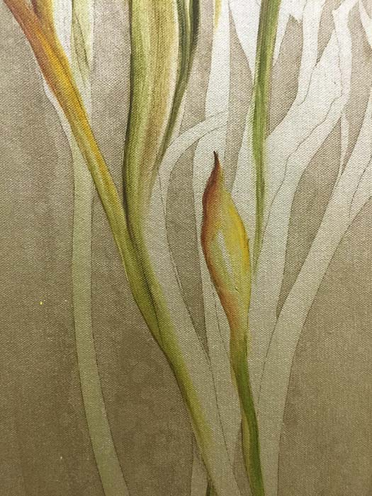 Three Irises by Mary Dulon, Detail