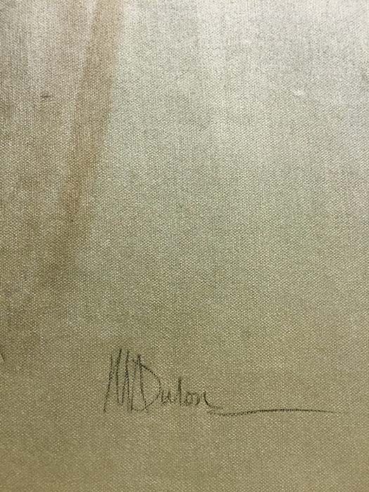 Three Irises by Mary Dulon, Signature