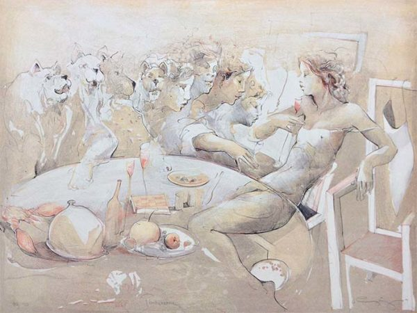 Tischszene - Limited Edition Lithograph on Paper, View 1