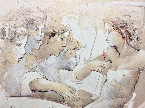 Tischszene - Limited Edition Lithograph on Paper, View 2