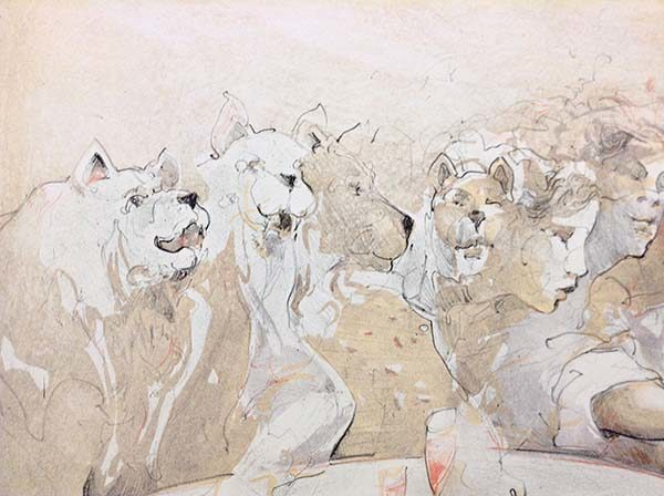 Tischszene - Limited Edition Lithograph on Paper, View 3