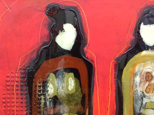 Togetherness - Mixed Media on Board, Detail