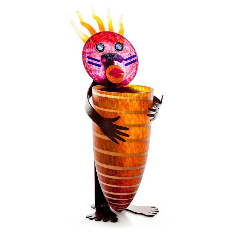 Tonky Vase: 24-99-46 in Amber
