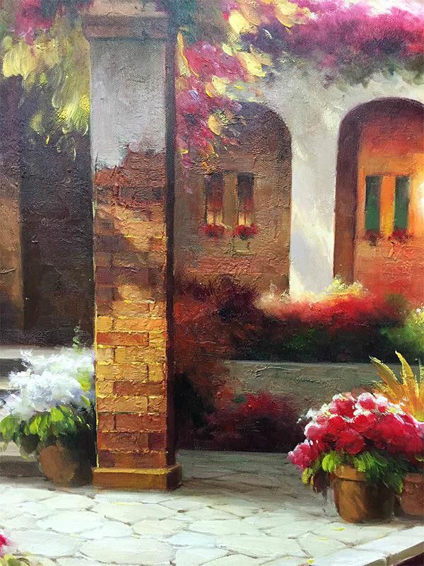 Tuscan Villa by C. Hayto, Detail