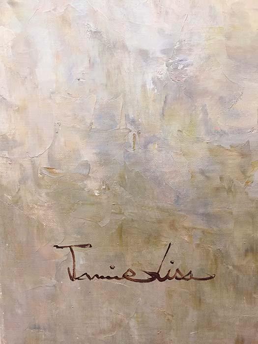 Vase de Fleurs by Jamie Lisa, Signature