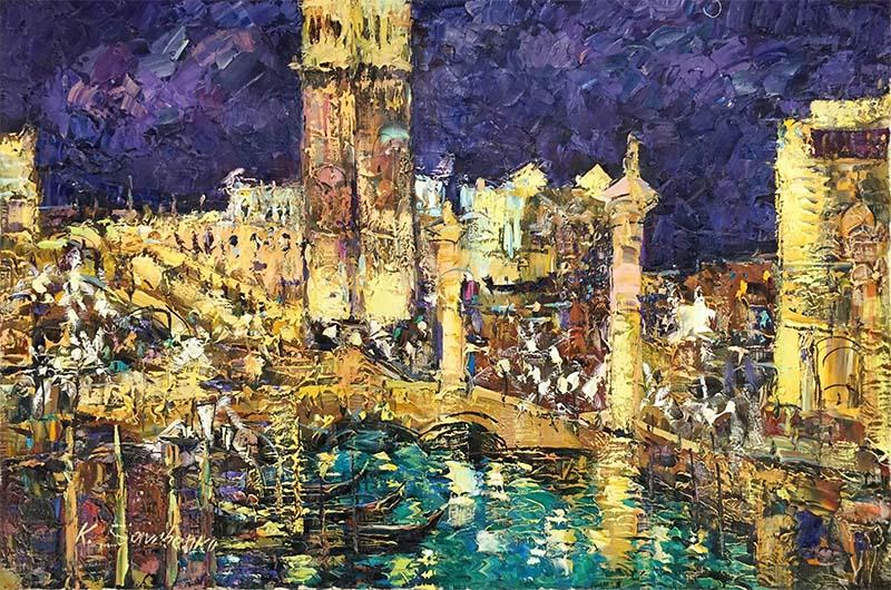 Venice at Night II by Konstantin Savchenko, Overview