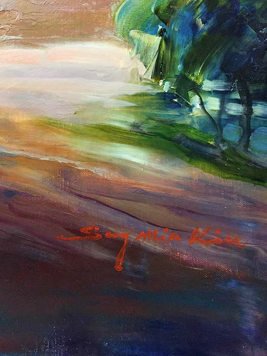 View from the Hilltop by Sung Min Kim, Signature
