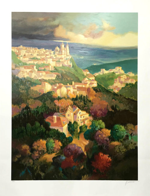 Villa de Conti In Autumn by Max Hayslette, Overview