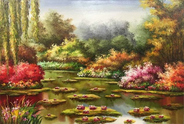 Water Lilies I by Mulio, Overview