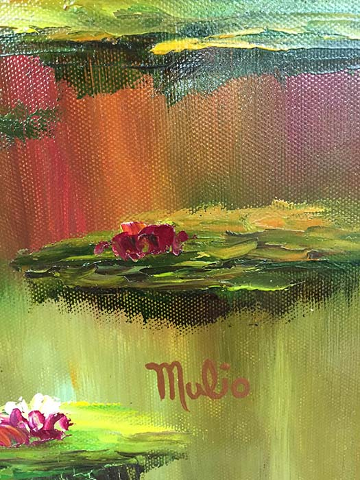 Water Lilies I by Mulio, Signature