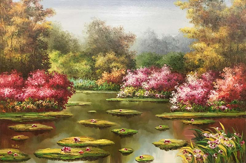 Water Lilies III by Mulio, Overview