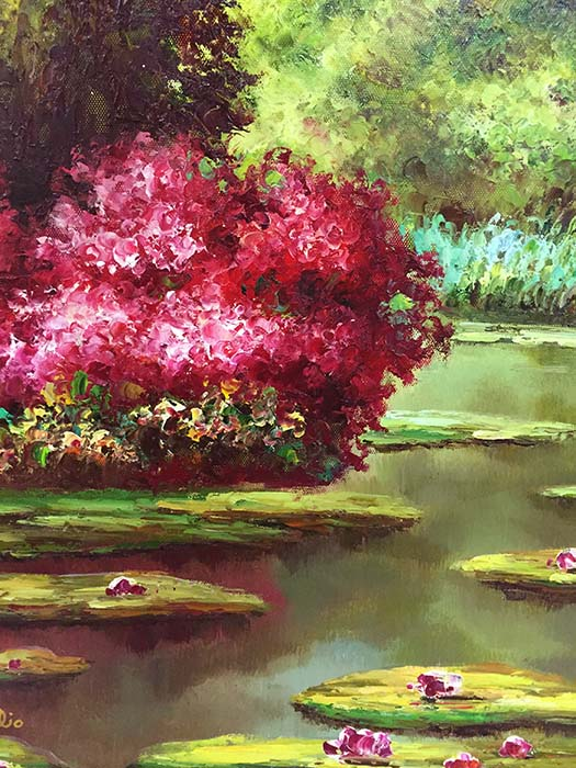 Water Lilies III by Mulio, Detail