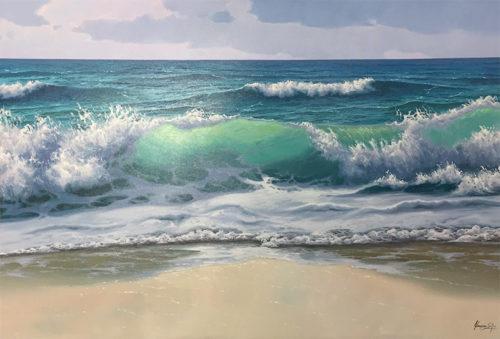 Waves Crashing on the Beach by Antonio Soler