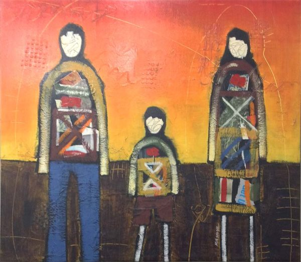 We Are Family - Mixed Media on Canvas, Overview