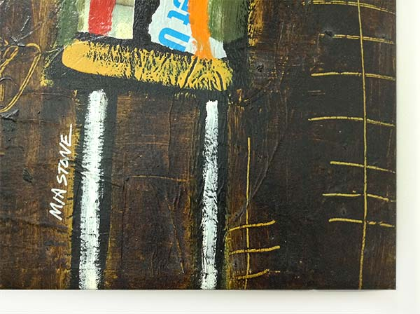 We Are Family - Mixed Media on Canvas, Signature