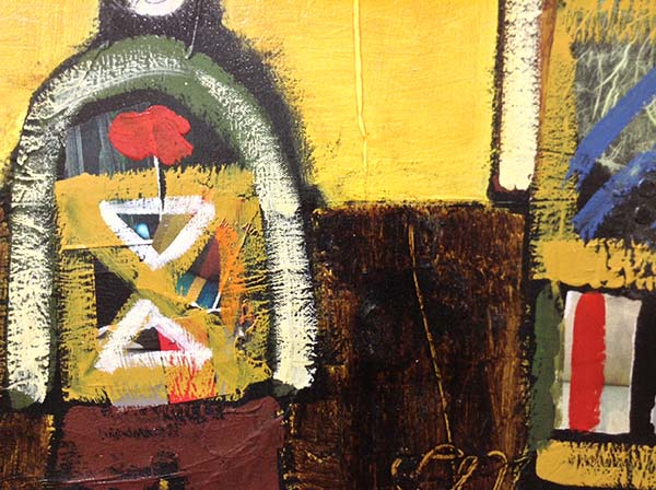 We Are Family - Mixed Media on Canvas, Detail