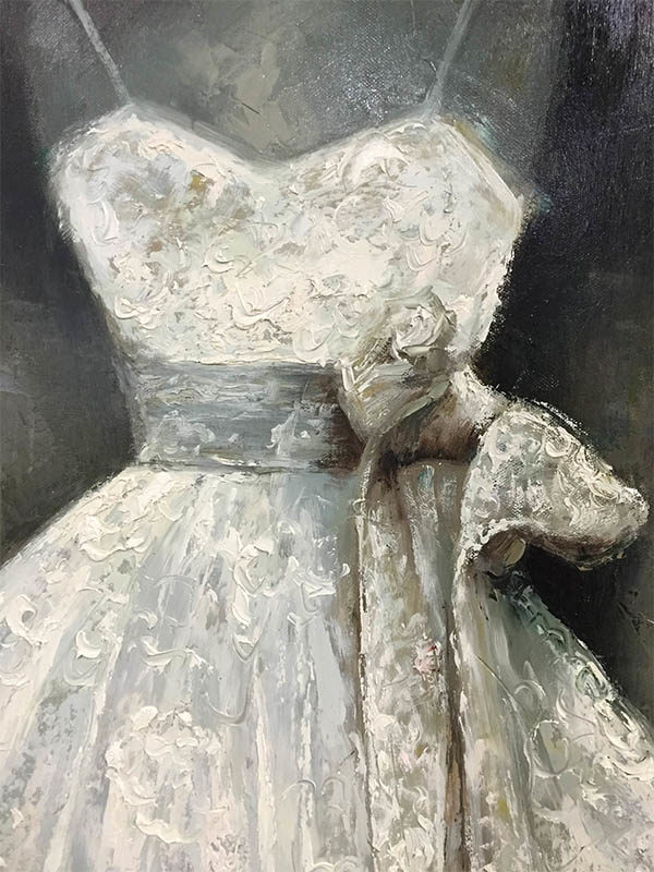 White Dress by Johnson, Detail