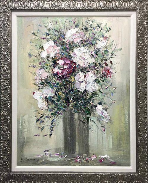 White Roses by Konstantin Savchenko, Framed