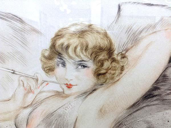 Louis Icart - White Underwear, Detail