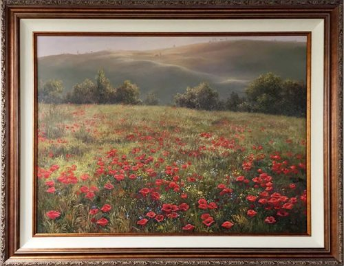 Wild Flower Meadow by M.S. Park, Framed